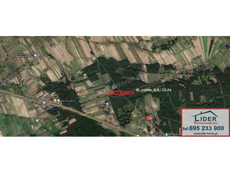 Sprzedam działki | Kowalewek gm. Rzgów (12km od Konina)